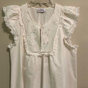 Vintage Vanity Fair Nightgown SZ XS Cotton EUC